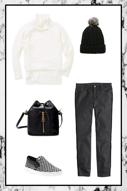Black White Outfit Ideas Fall Clothes Shoes