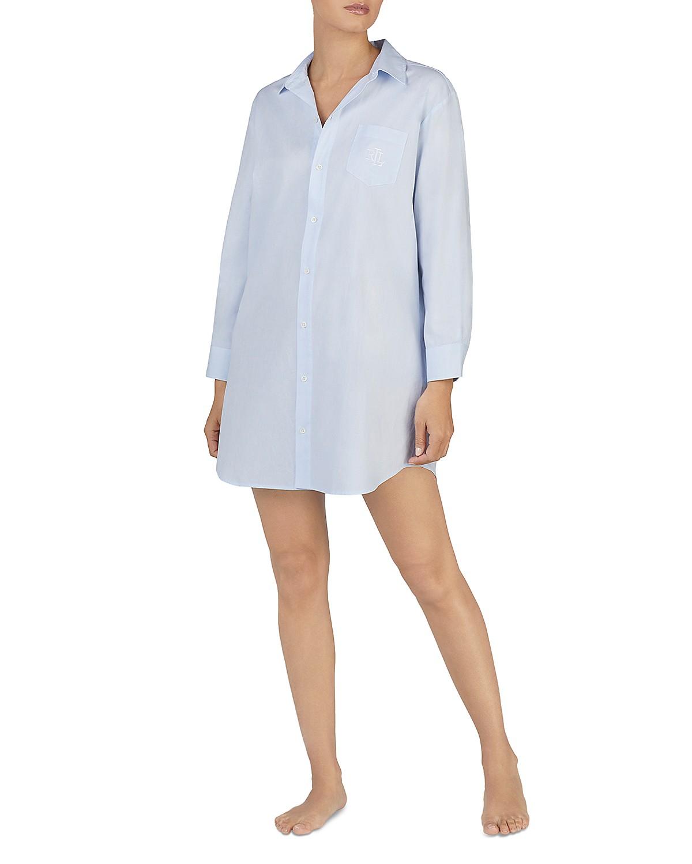 be2f6df5b1 Lauren Ralph Lauren. Cotton Dobby Sleepshirt