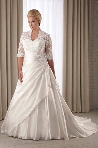 Plus Sized Wedding Dresses-Flattering Styles