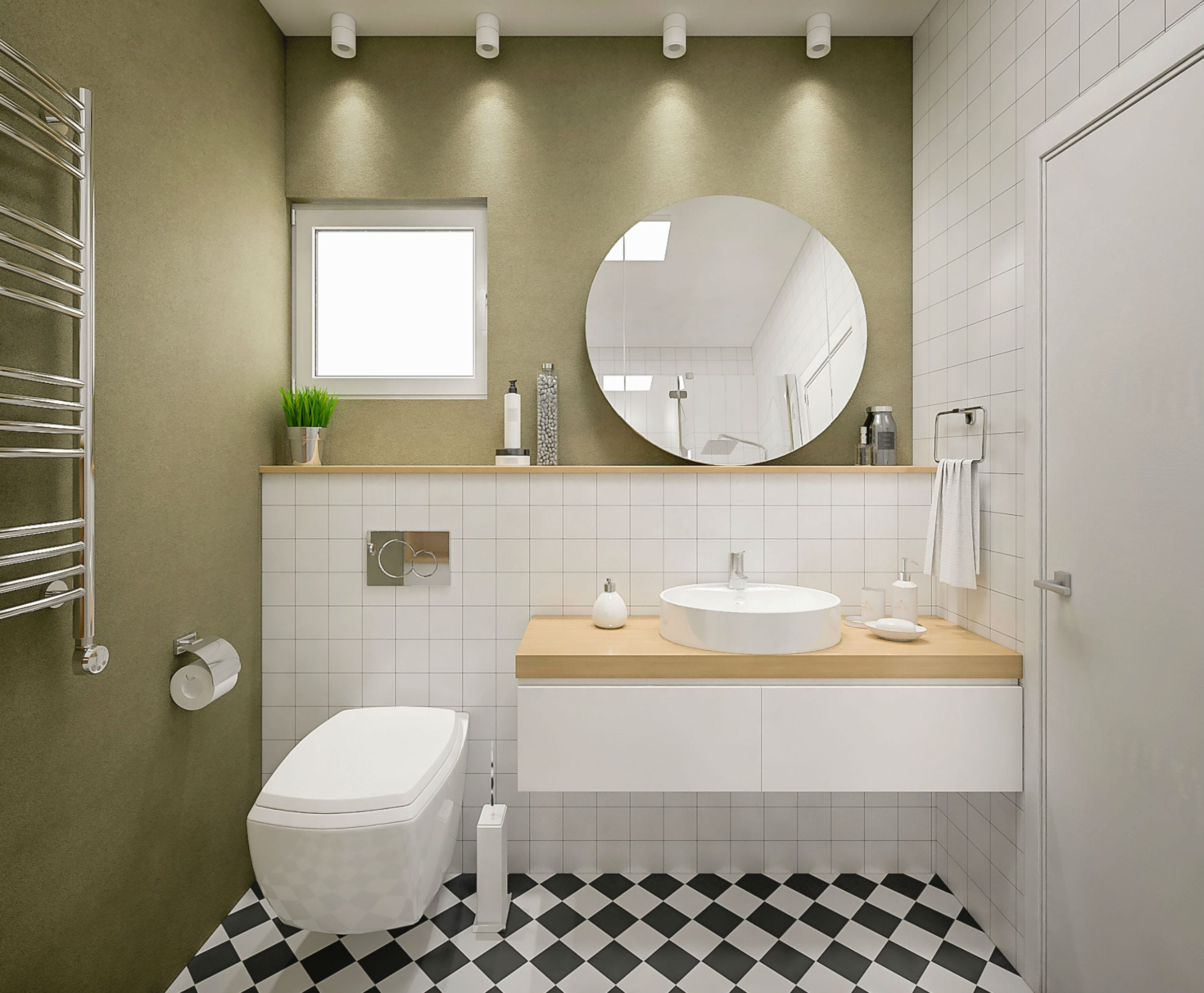 8 Genius Ideas For A Small Bathroom From Pinterest