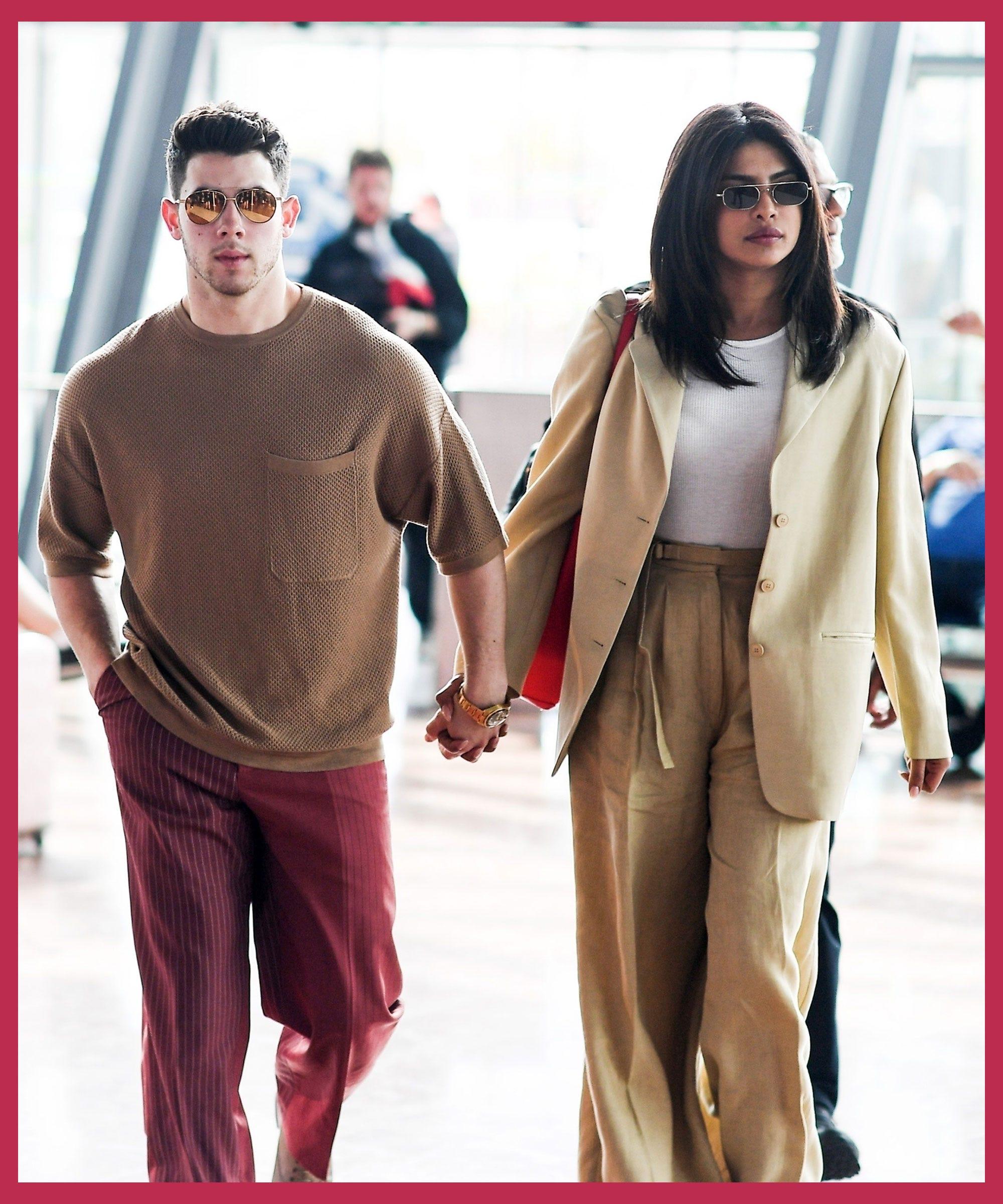 Priyanka Chopra And Nick Jonas Nailed Matching Couples Style At The Airport