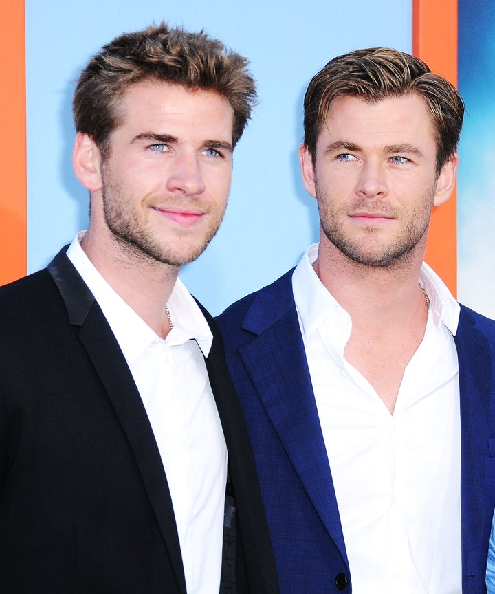 chris liam hemsworth brothers hanging with miley cyrus