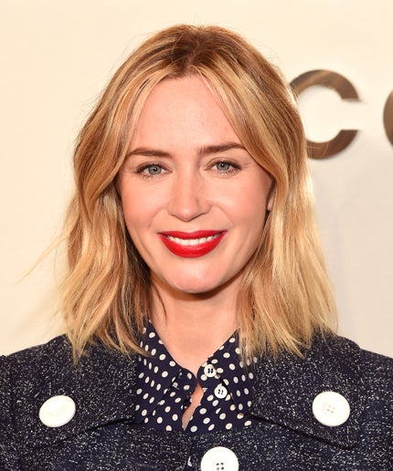 Emily Blunt New Blonde Lob Haircut Michael Kors Nyfw