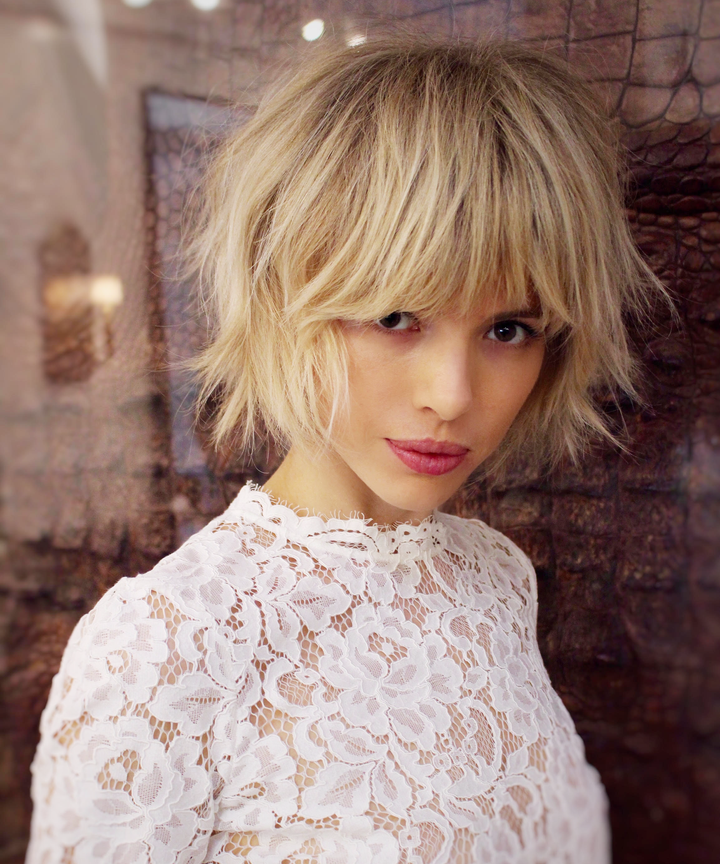 La Nyc Hair Trend Bob Bangs Summer Hairstyle Photos