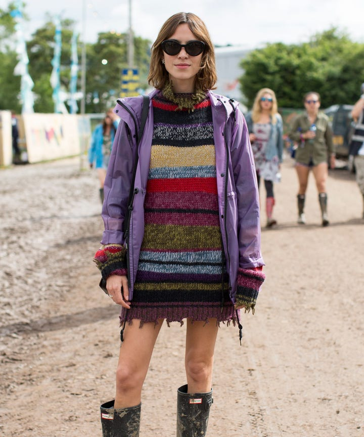 Glastonbury Street Style  A Lesson In Looking Good While Covered In Mud 51d6de0901