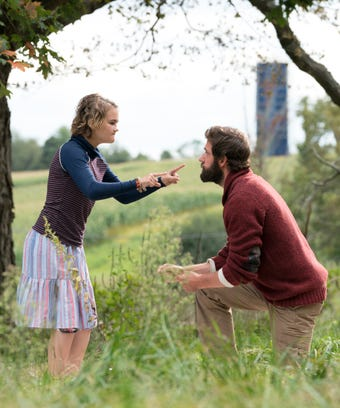 A Quiet Place John Krasinski and Millicent Simmonds