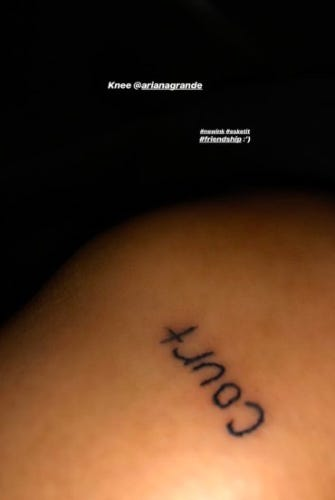 9a2685a32c00a A Complete Guide To Ariana Grande's Tattoo Collection