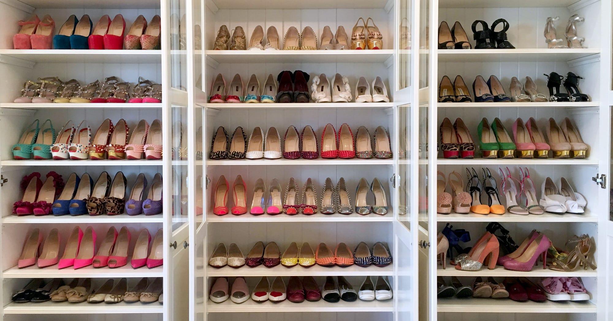d24b6a91c1 Shoe Closet Photos Designer Heels Sex And The City