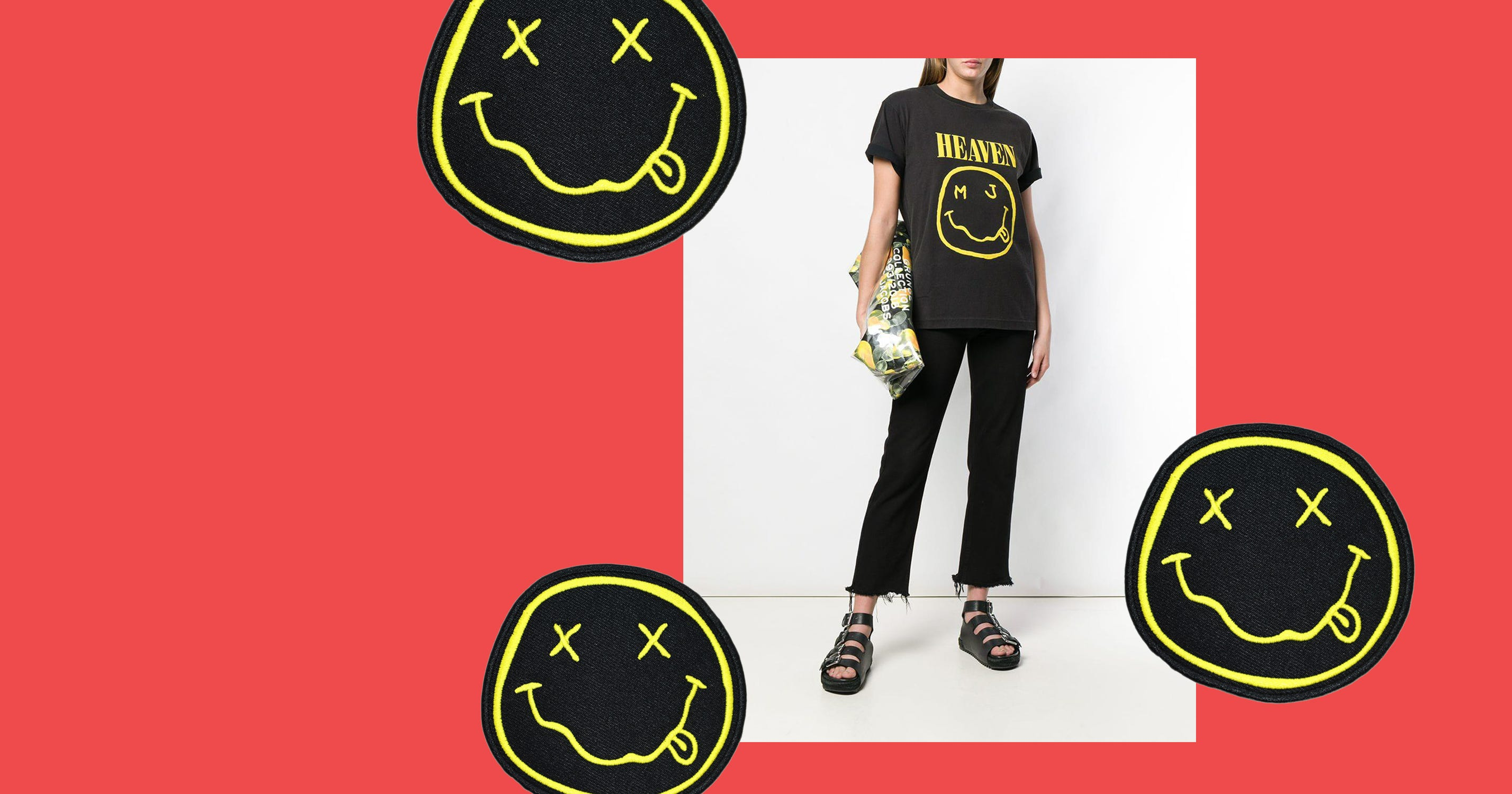 b85ce845c936d Nirvana Reportedly Suing Marc Jacobs - Smiley Logo