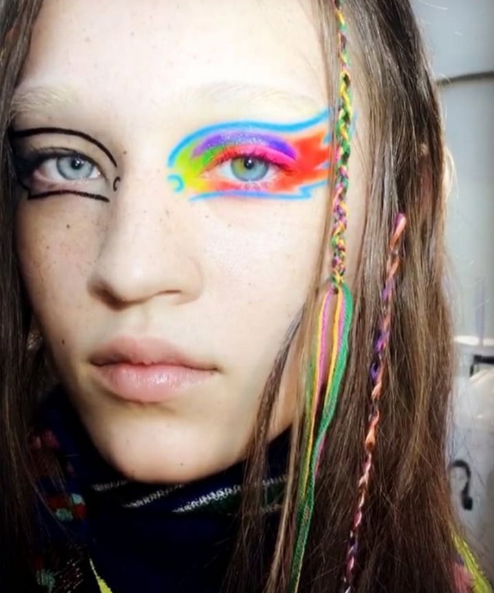 Regenbogen Make Up Margiela Paris Fashion Week