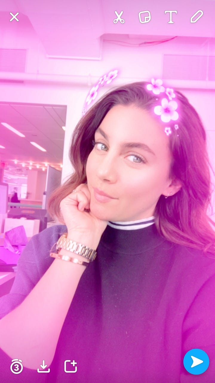 Most popular snapchat filters 2016 photo courtesy maria del russo the flower power crown izmirmasajfo