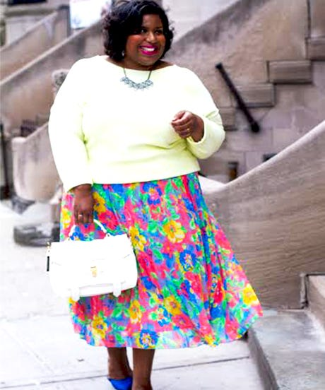 Colorful Plus Size Fashion Curvy Girl Clothes