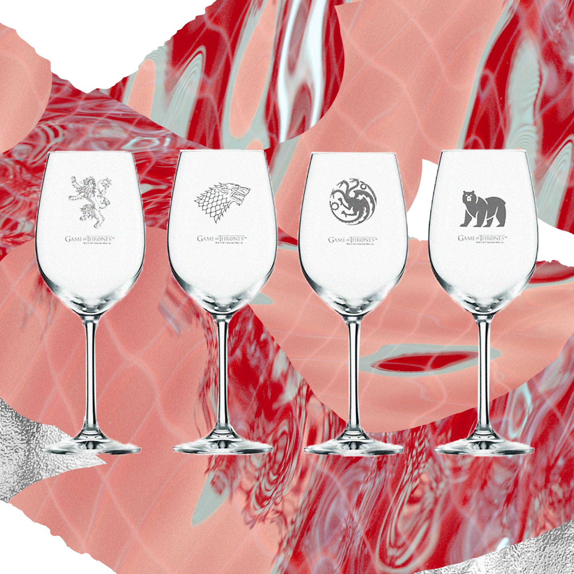 Game Of Thrones Official Beer And Wine Glasses