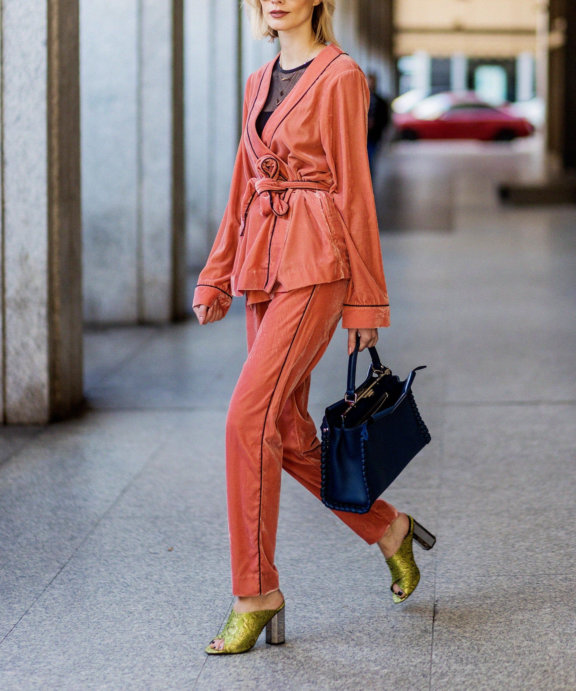 Pajamas Outfits Trend - Sleepwear Street Style Photos 6eeea9130