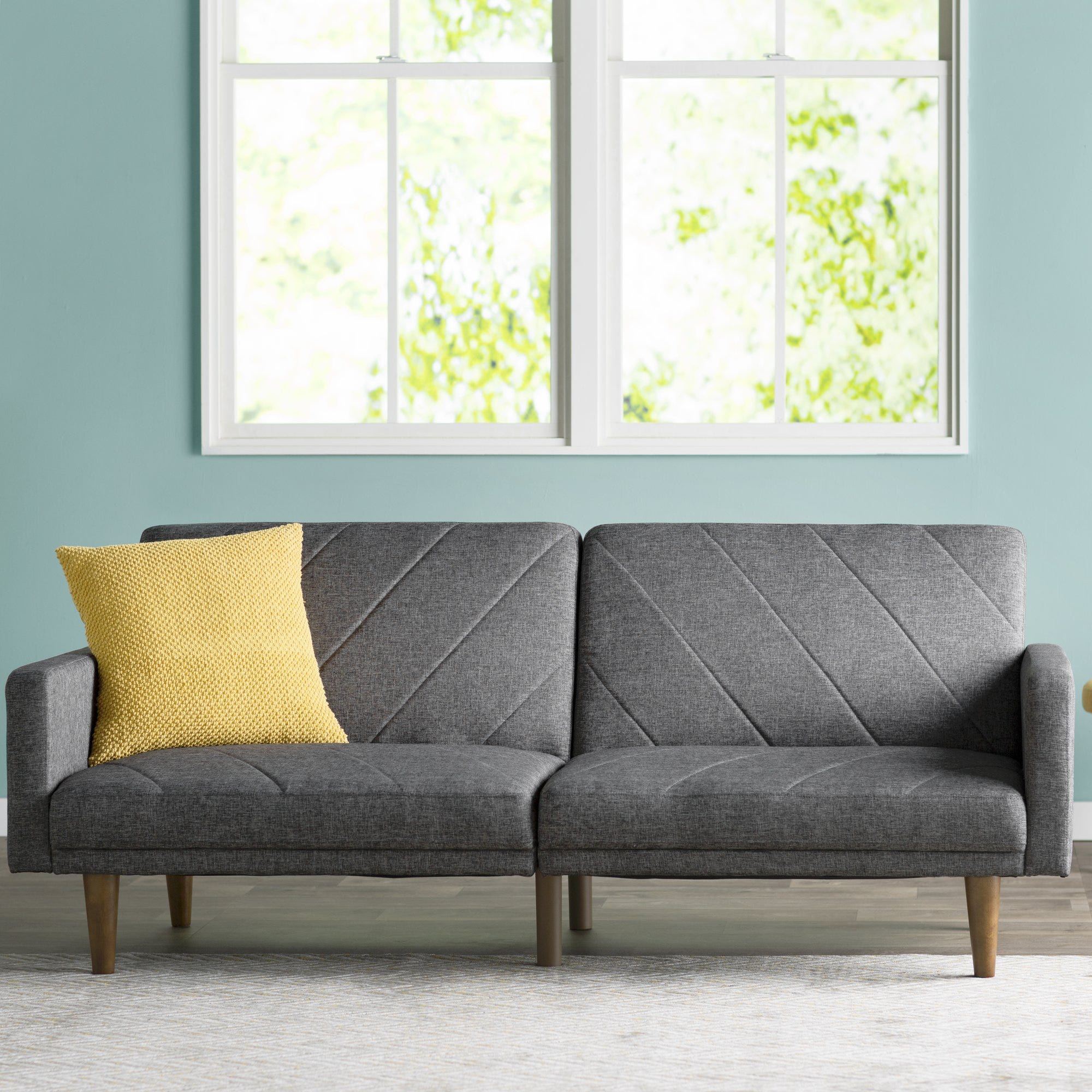 best futon futons reviews your and home brighten for chaise lounges with black red will mattress white less