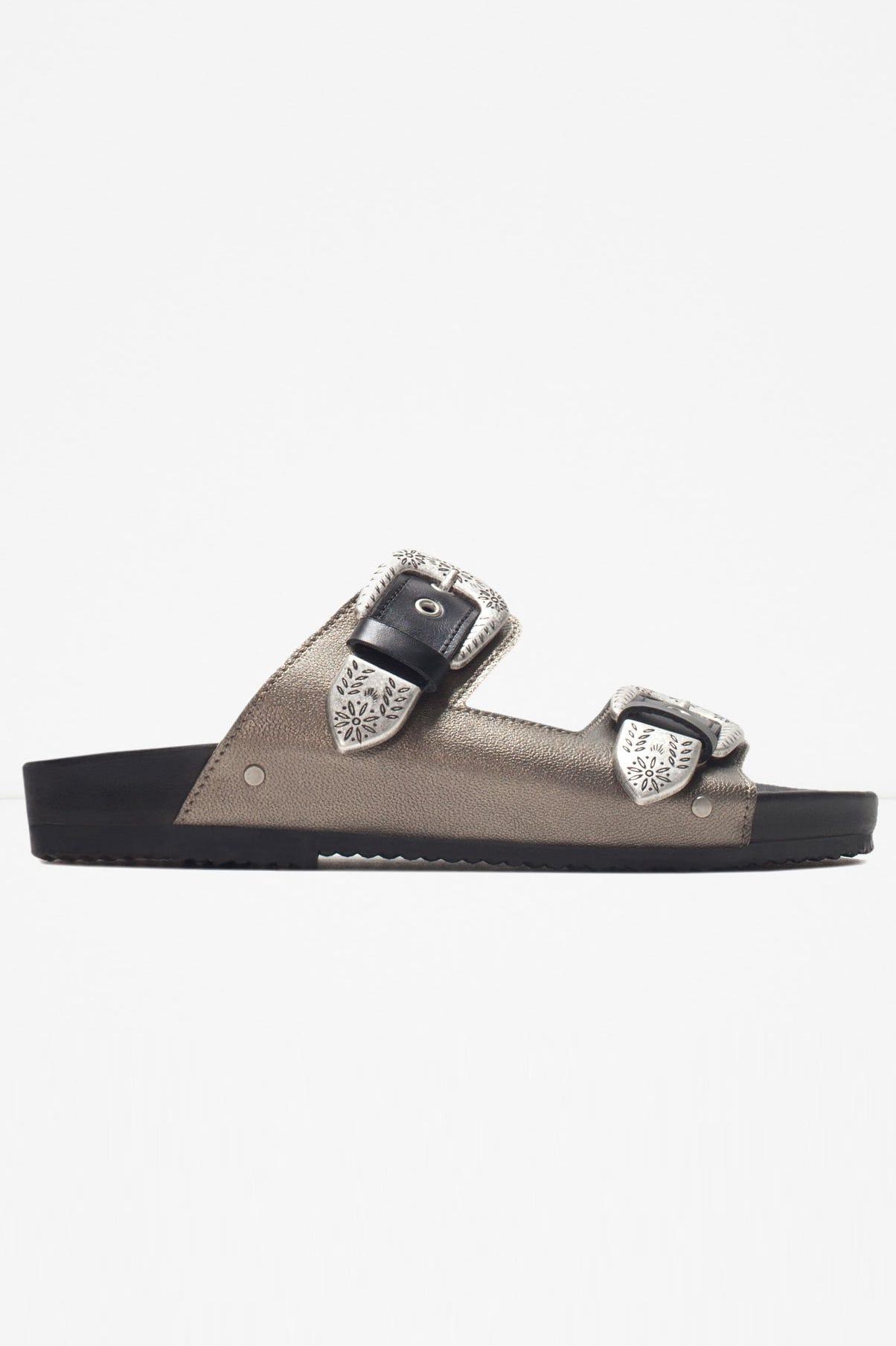 f09e810d13c543 Zara. Leather Cowboy Sandals