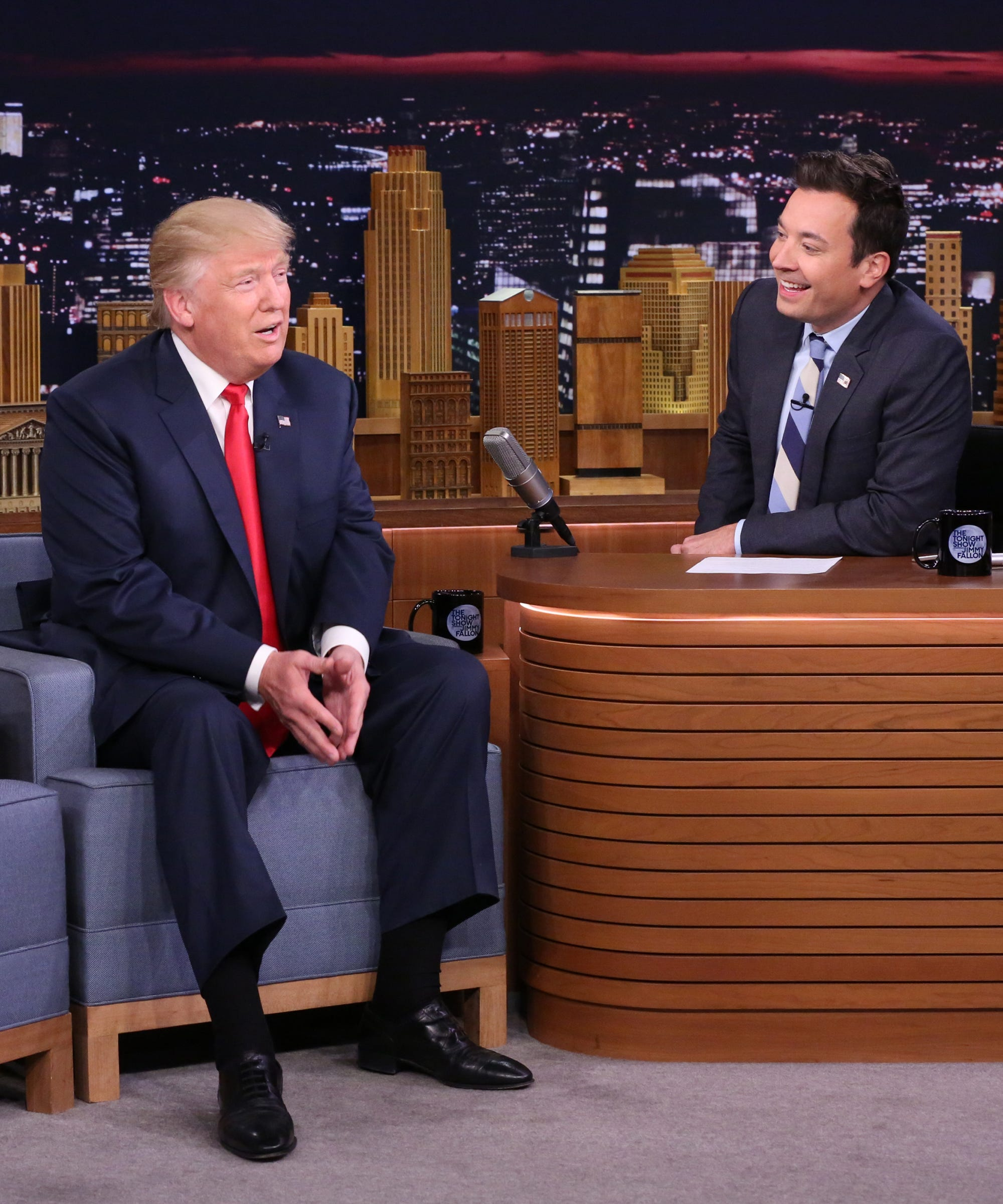 """Donald Trump Asks Jimmy Fallon To """"Be A Man"""" & Stop Crying About That Interview"""