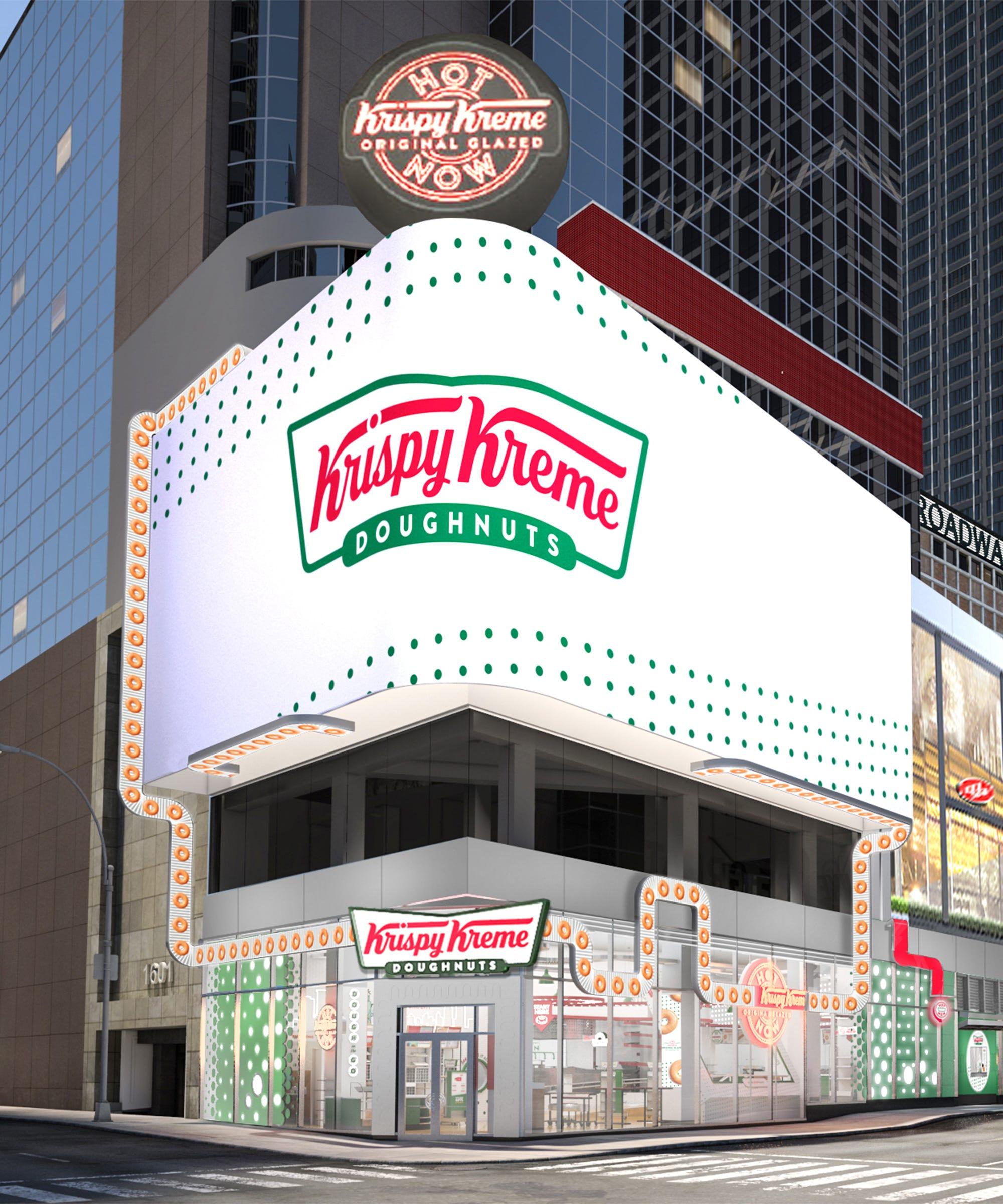 Krispy Kreme's New Times Square Megastore Will Have A Glaze Waterfall