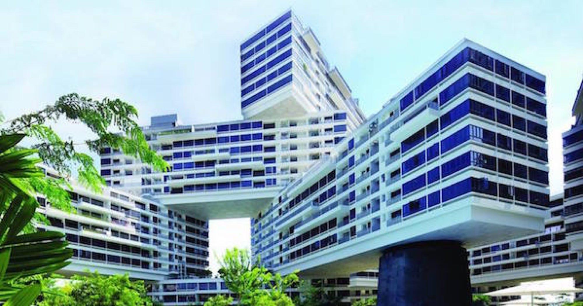 singapore interlace apartment complex top building