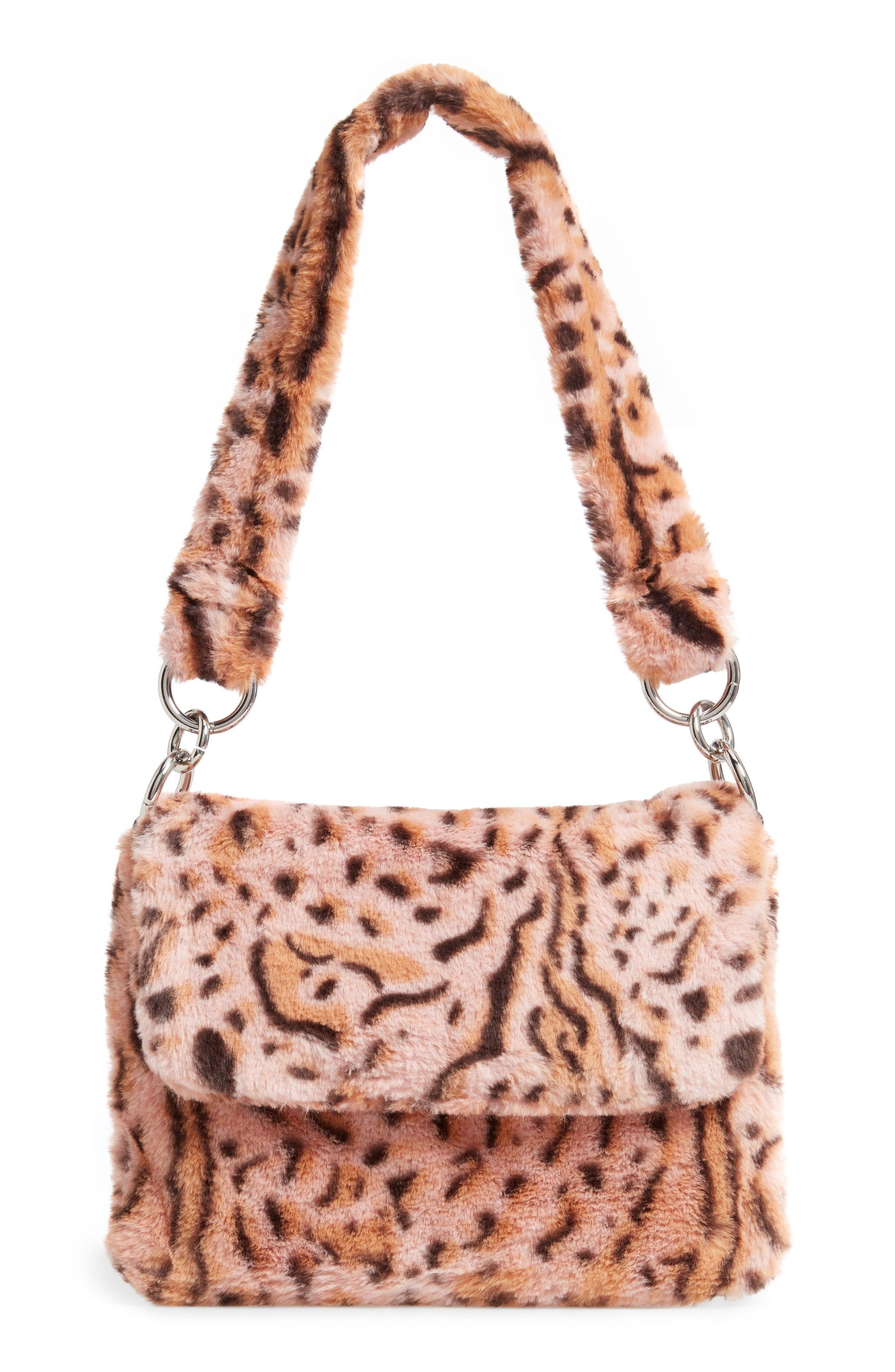 dc0fe8341cca Topshop. Teddy Leopard Print Faux Fur Shoulder Bag