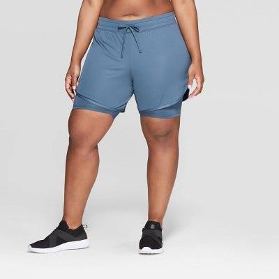 e90232858b6 Women's Plus Size Mid-Rise Knit Layered Shorts 7