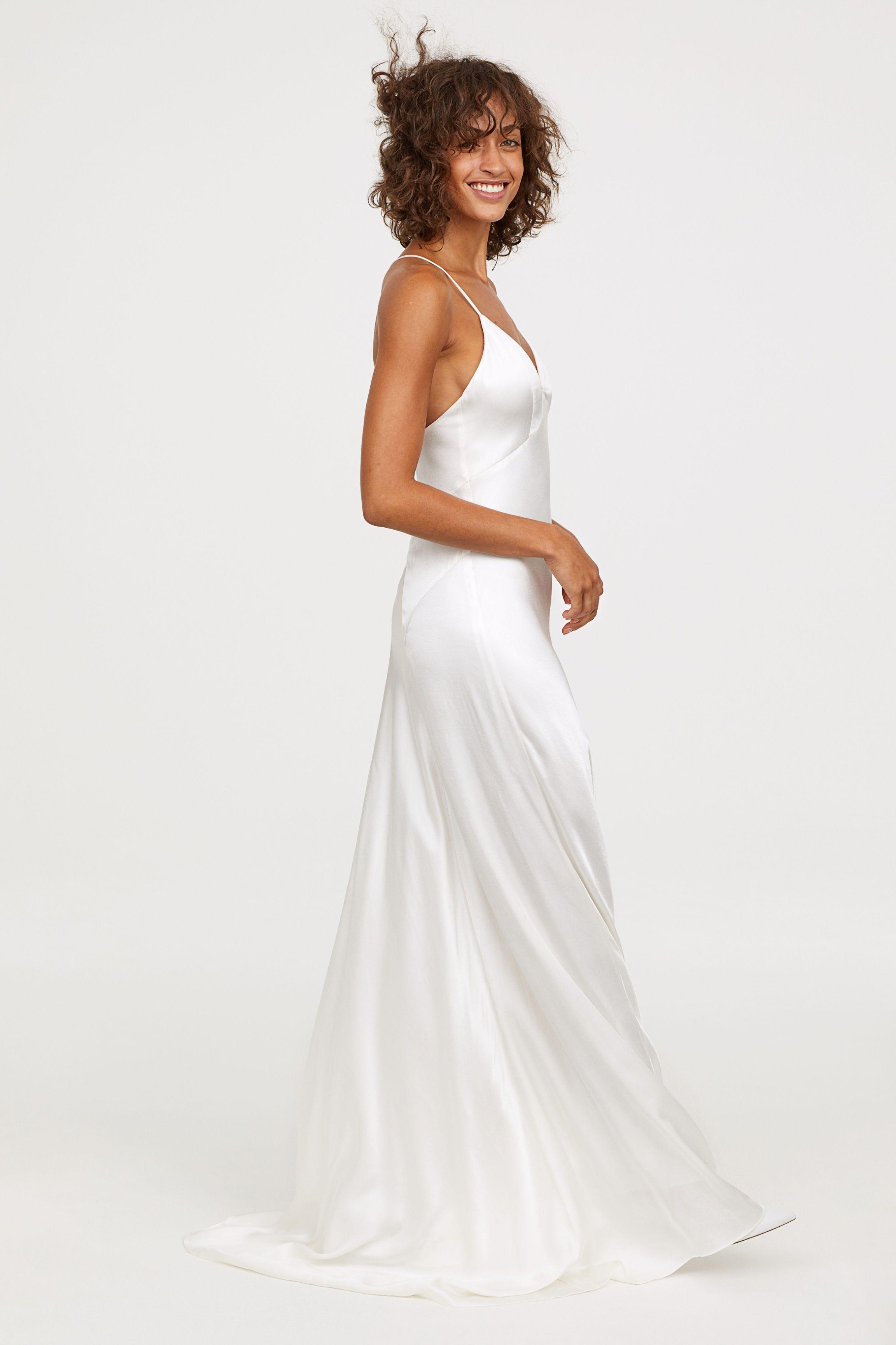 H M Long Satin Dress