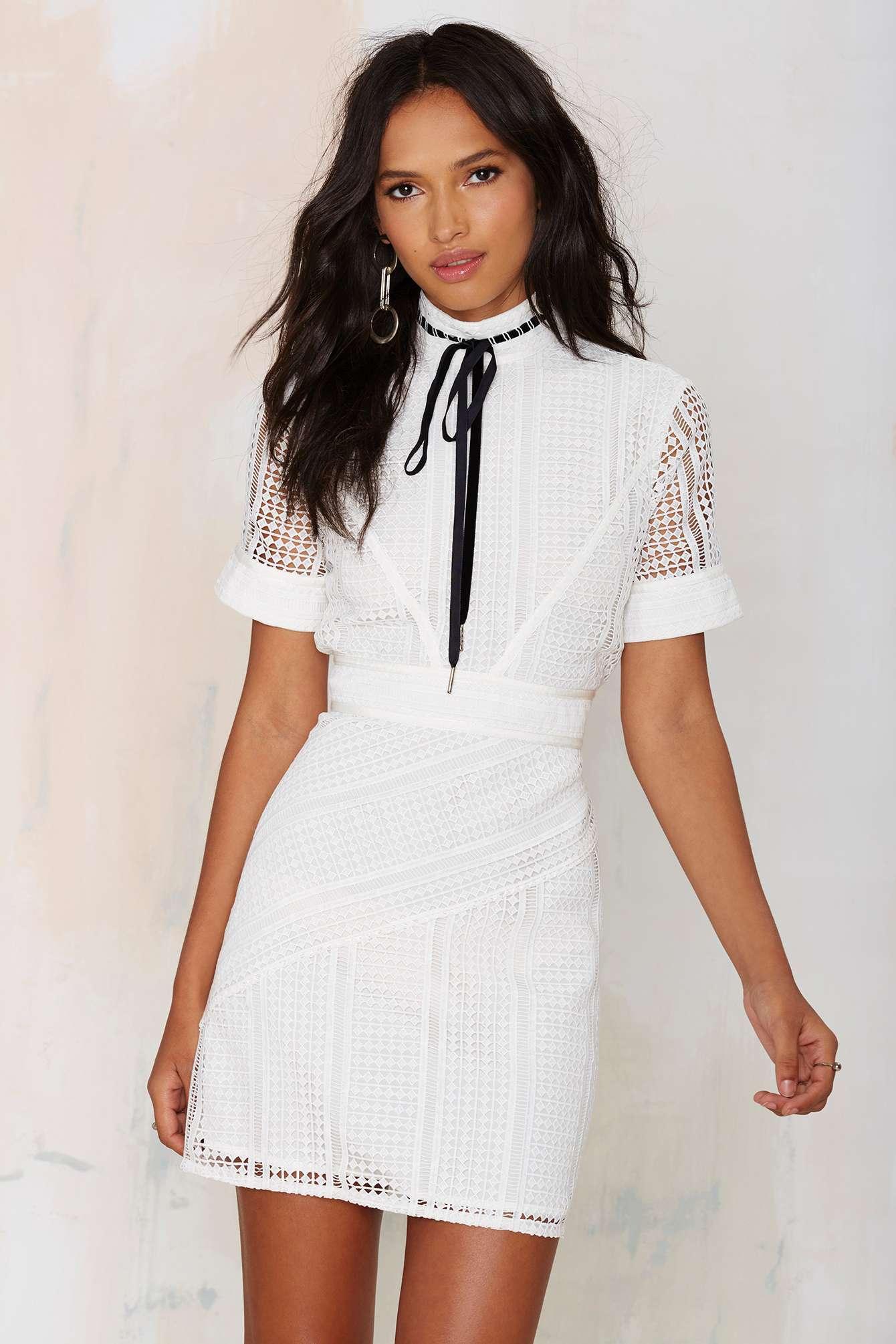 f84427034c4 Nasty Gal. Bardot Crochet Lace Dress