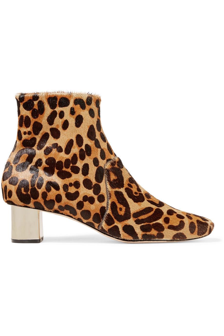 01fbe345f3a0 Nanushka. Clarence Leopard-print Calf Hair Ankle Boots