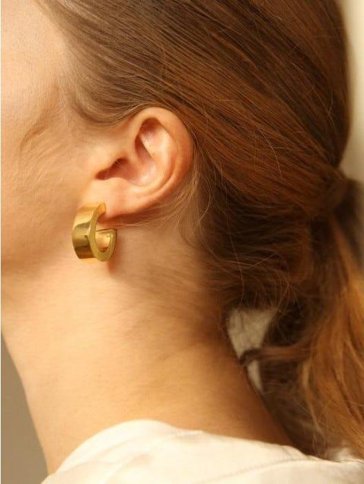 9be3a3f308298 Wide Hoop Earrings