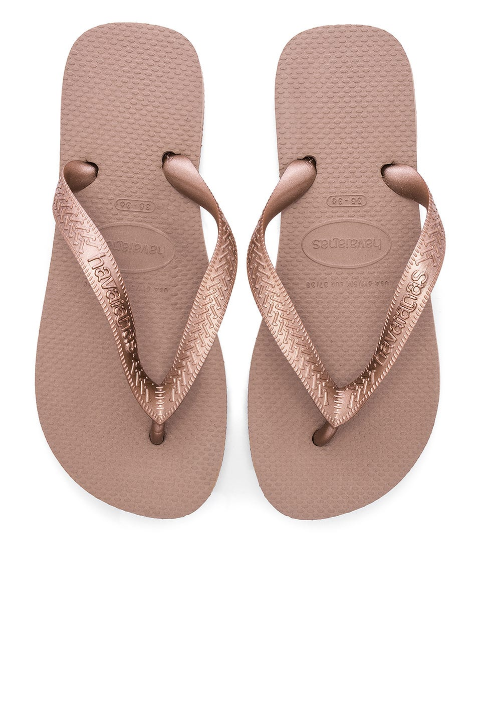 Top Tiras Sandal in Rose Gold