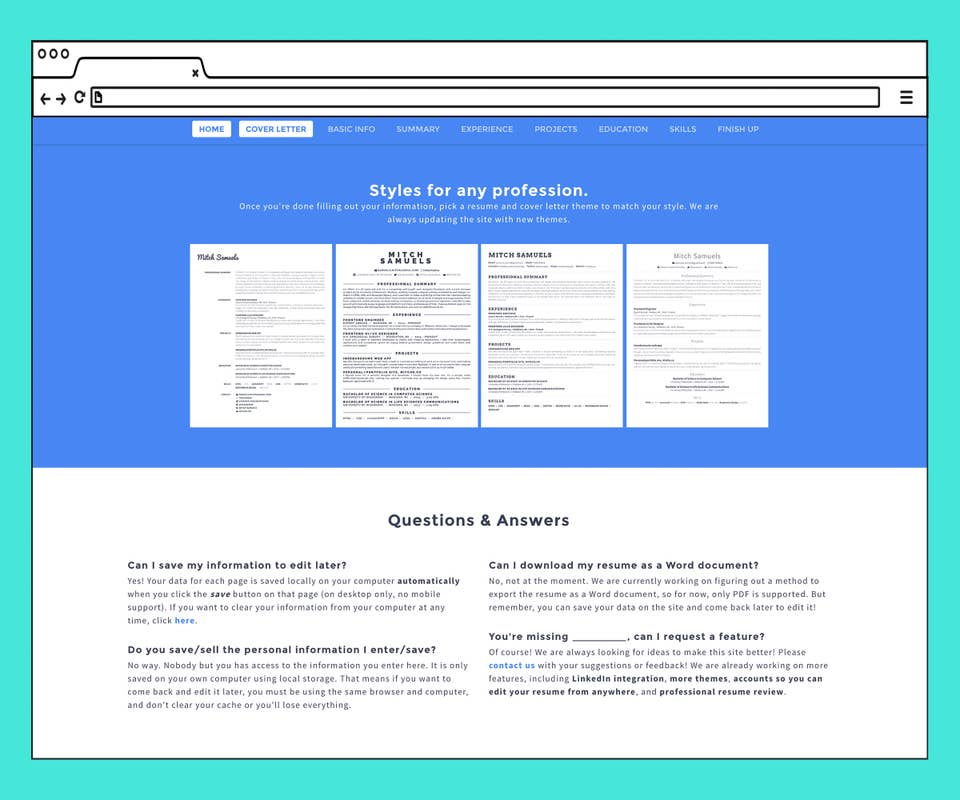 Best Free Resume Templates Online For Job Search 2020