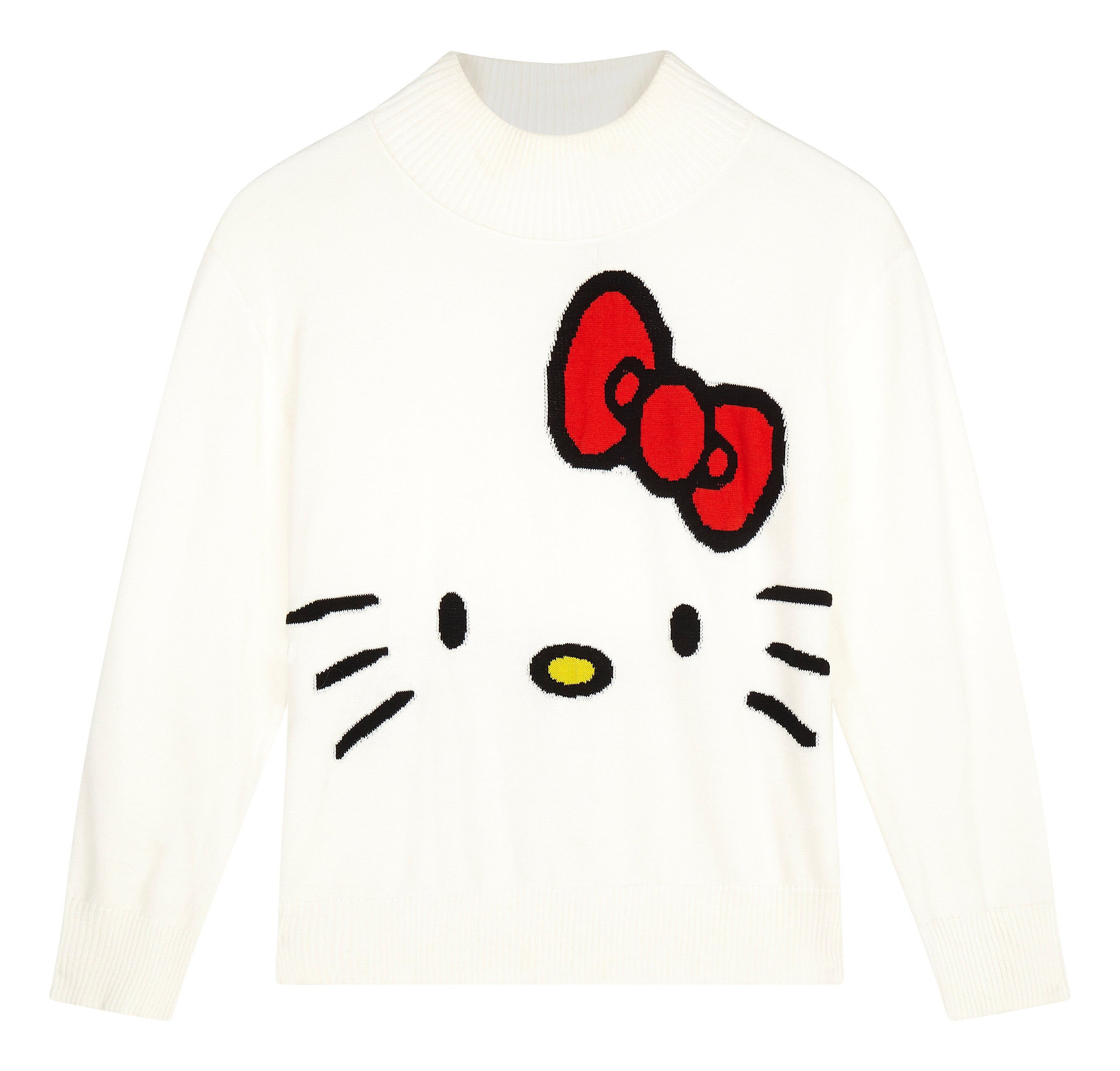 296abc1e9 Hello Kitty X ASOS + Cropped Hoodie With Face Embroidery