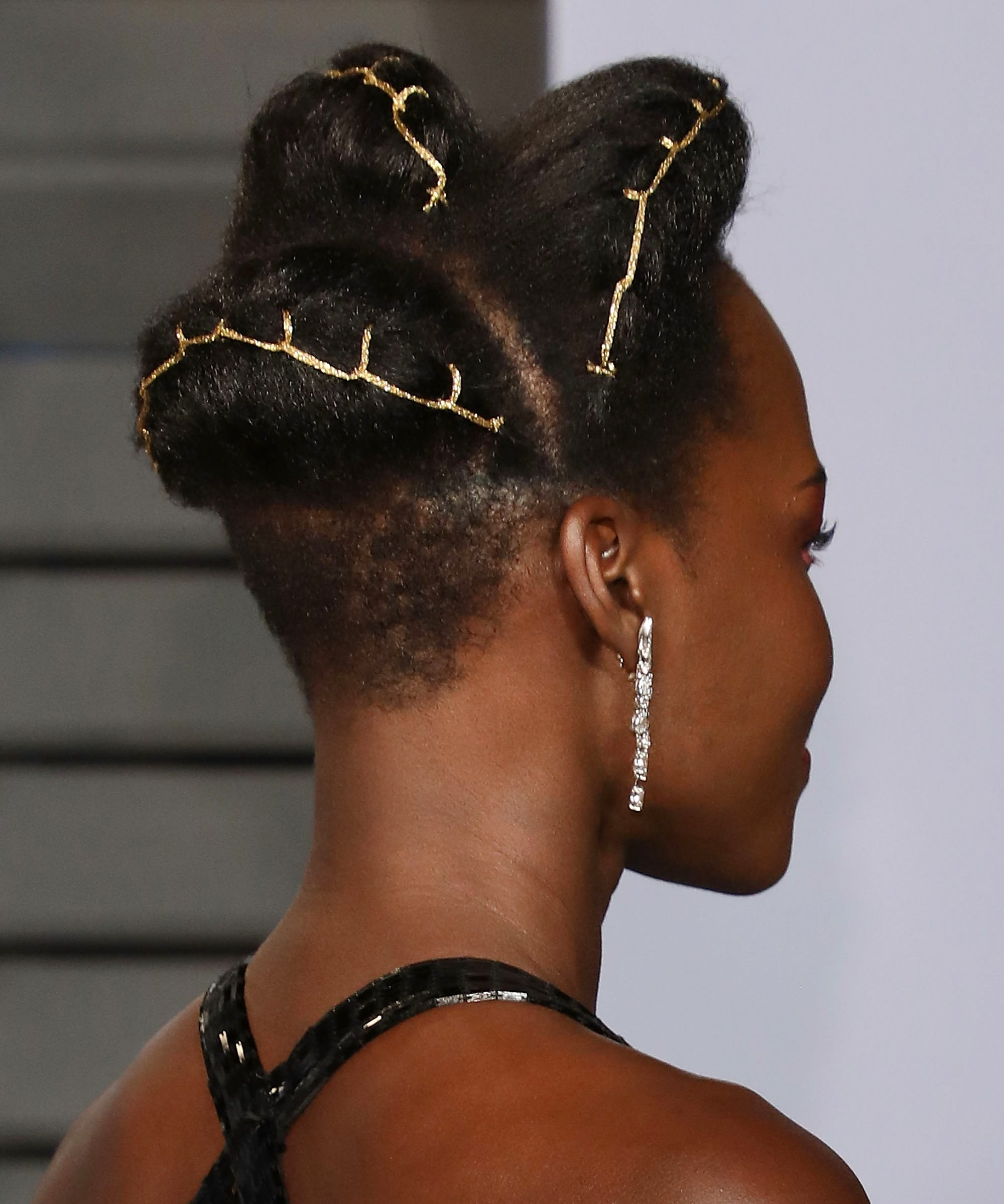 Image result for lupita nyongo hair to the oscars