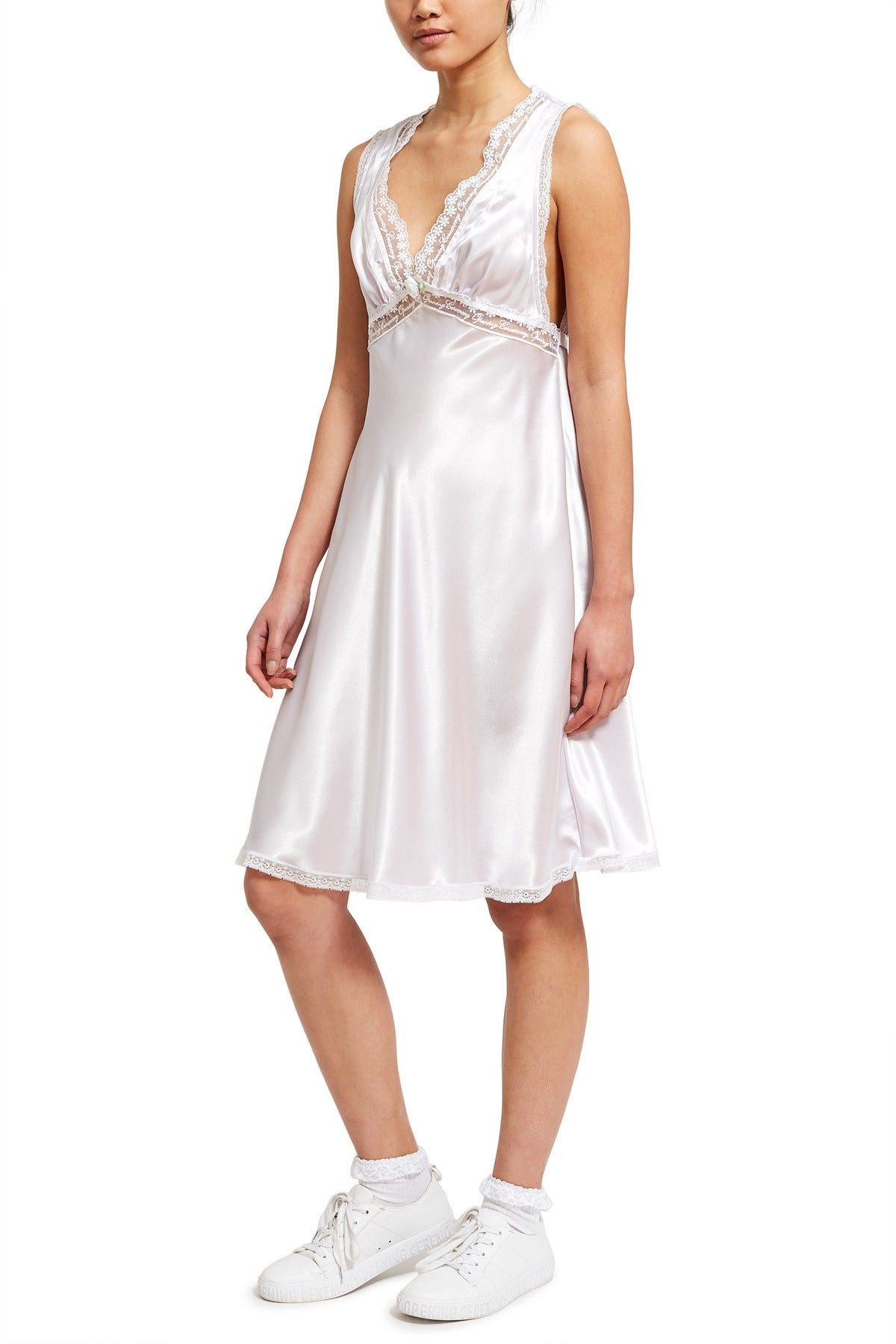 Priamo for Opening Ceremony + Bias-cut Satin Short Gown