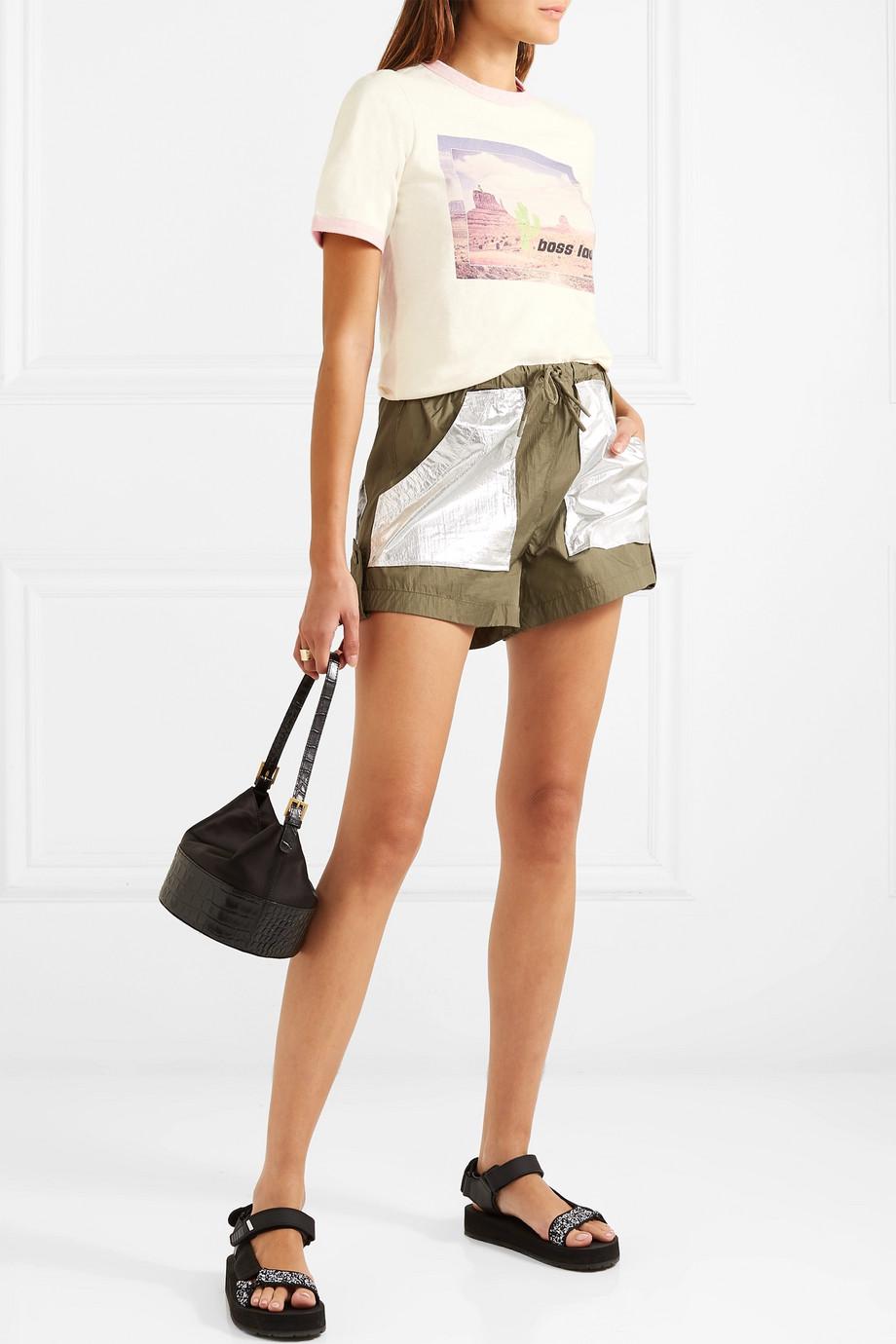 ce875f214bd6 Ganni + Printed Jersey T-Shirt