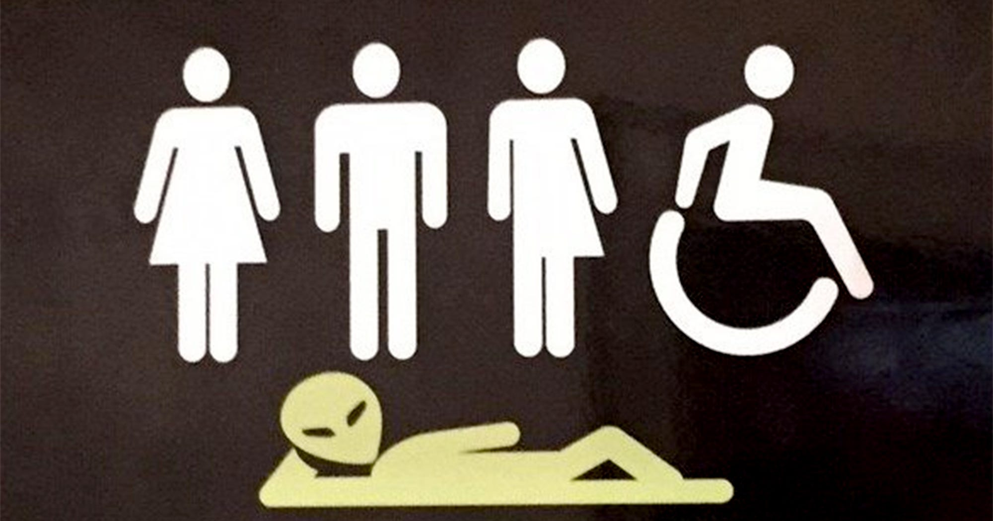 Inclusive Bathroom Sign Public Restroom All Genders