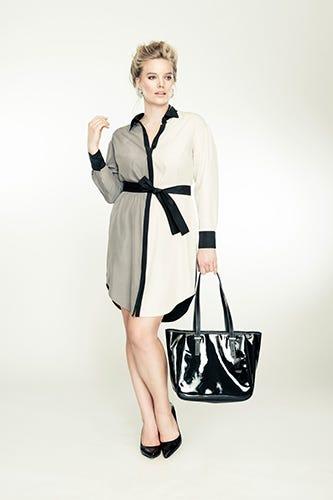 271c8c1f4c0 Isabel Toledo for Lane Bryant. Colorblock Tunic Dress