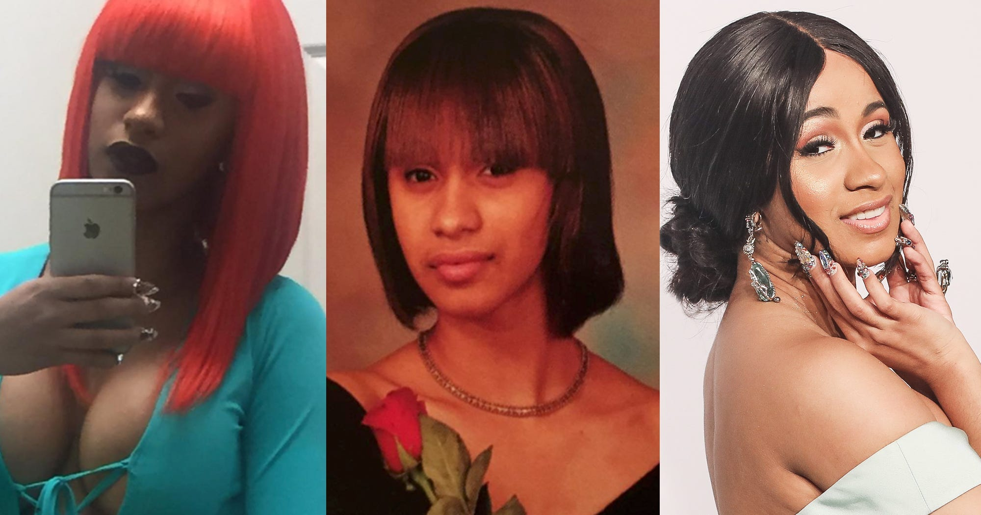 Cardi B Before Fame: Cardi B Rapper Hair Makeup Trends Looks Over The Years