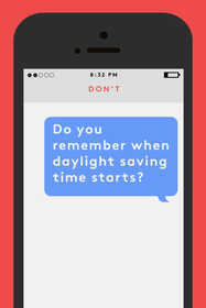 text message etiquette dos and don'ts