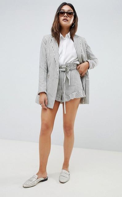 fd9cc3624 Casual Frill Stripe Suit