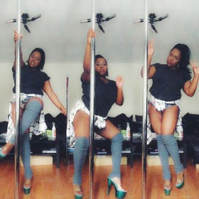 curvy girls pole fitness  exercise body confidence