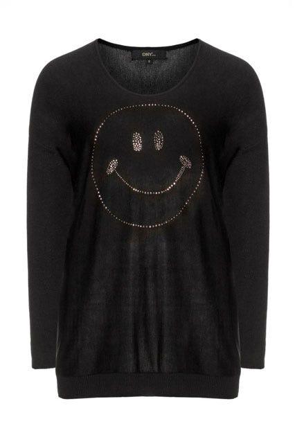 Embellished 'Smile' Sweater