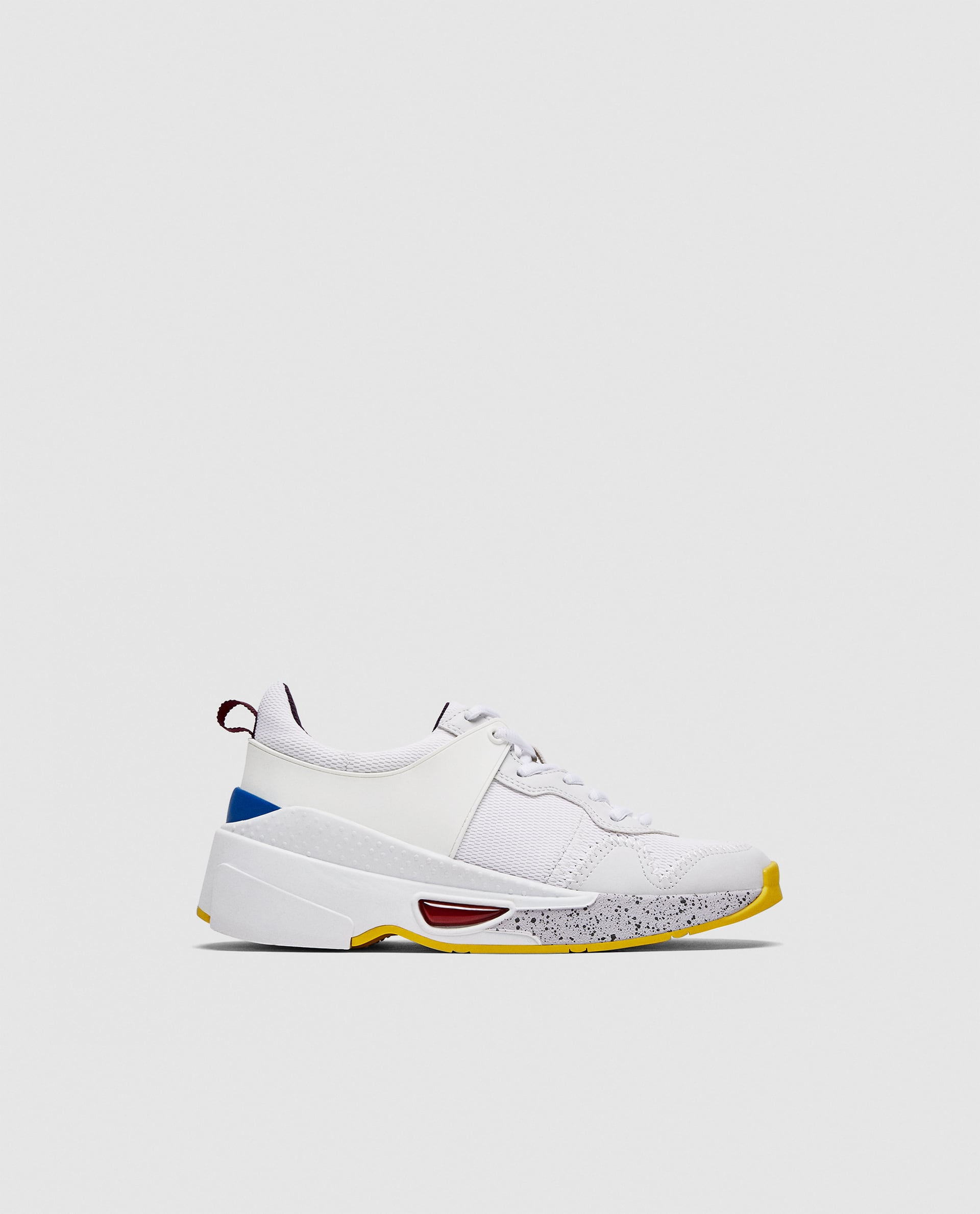 Zara Contrasting Chunky Sole Sneakers