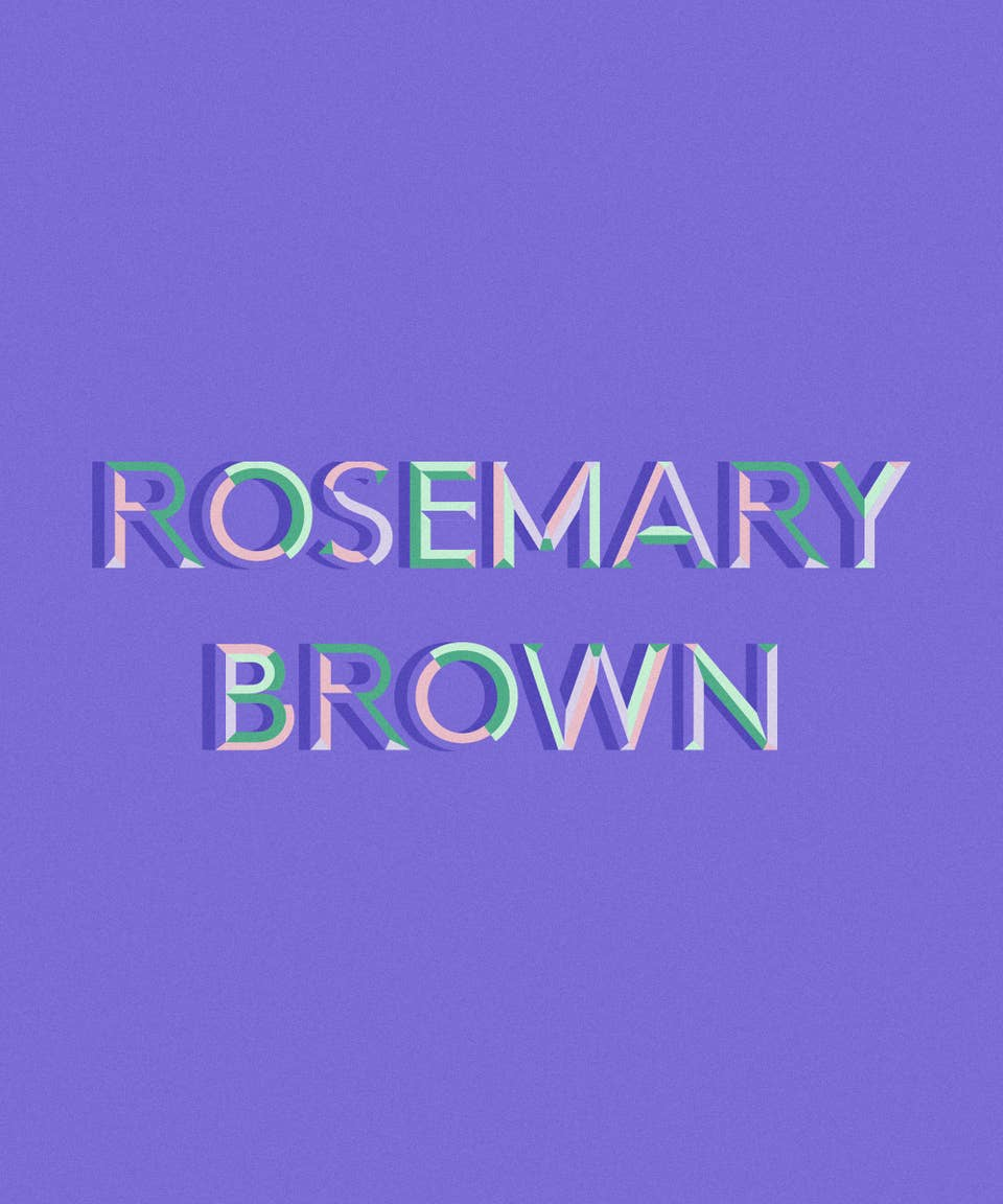 Graphic of the name Rosemary Brown