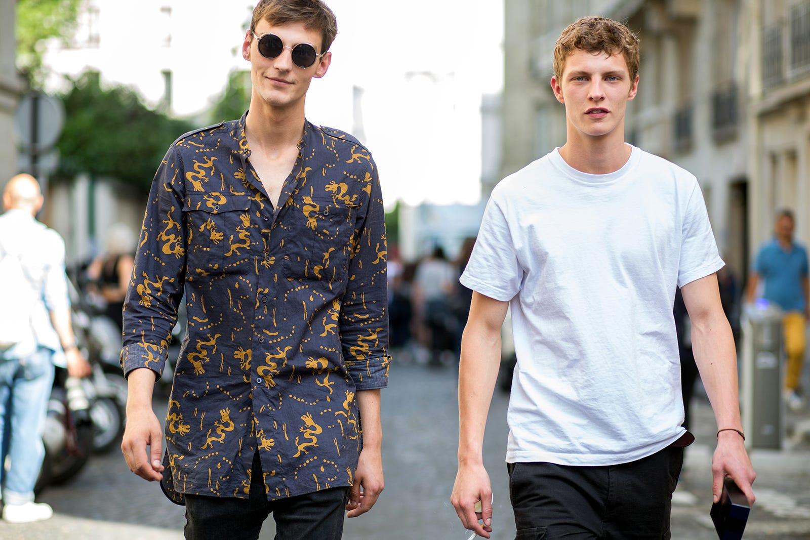 Male Model Off Duty Street Style Male Model Fashion