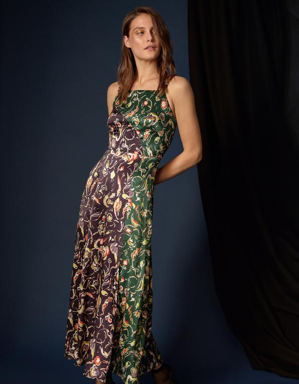 6d4366b783fbc Finery London + Paloma Printed Satin Dress