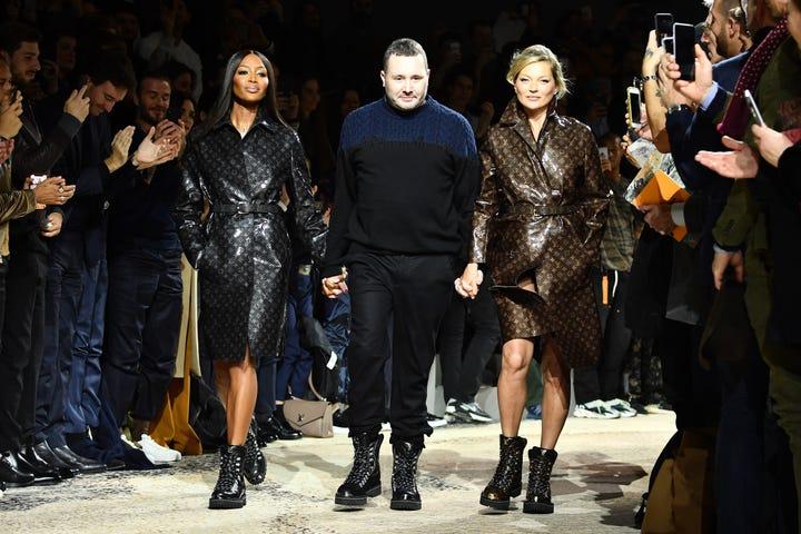Kate Moss Naomi Campbell Close Louis Vuitton Show