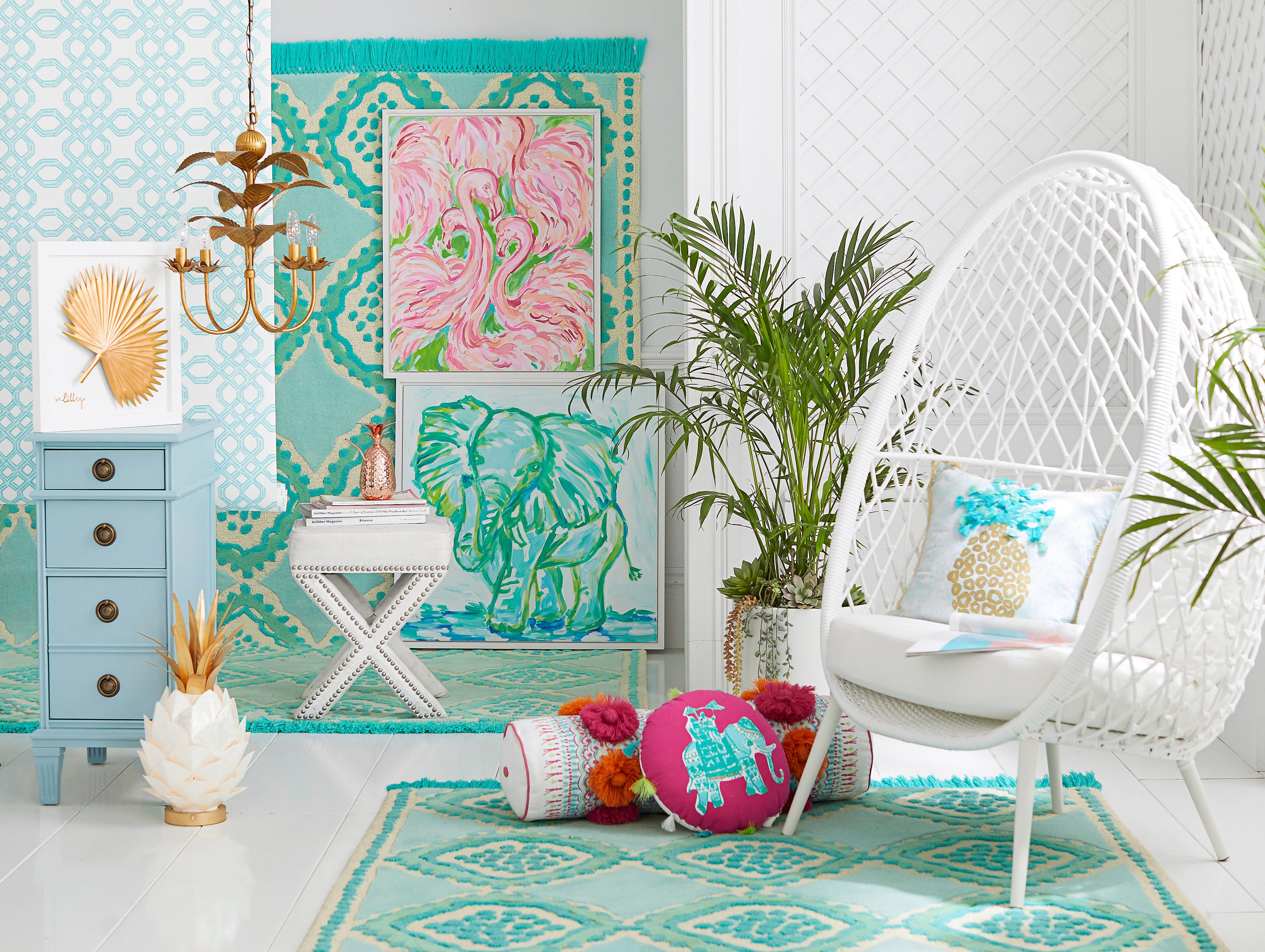 Brilliant Pottery Barn And Lilly Pulitzer Collaboration Uwap Interior Chair Design Uwaporg