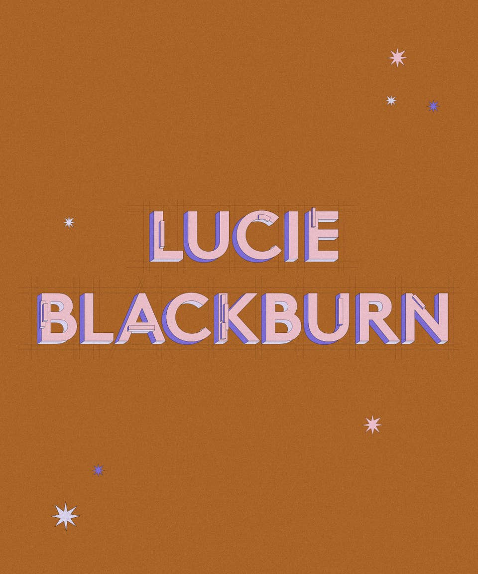 Graphic of the name Lucie Blackburn