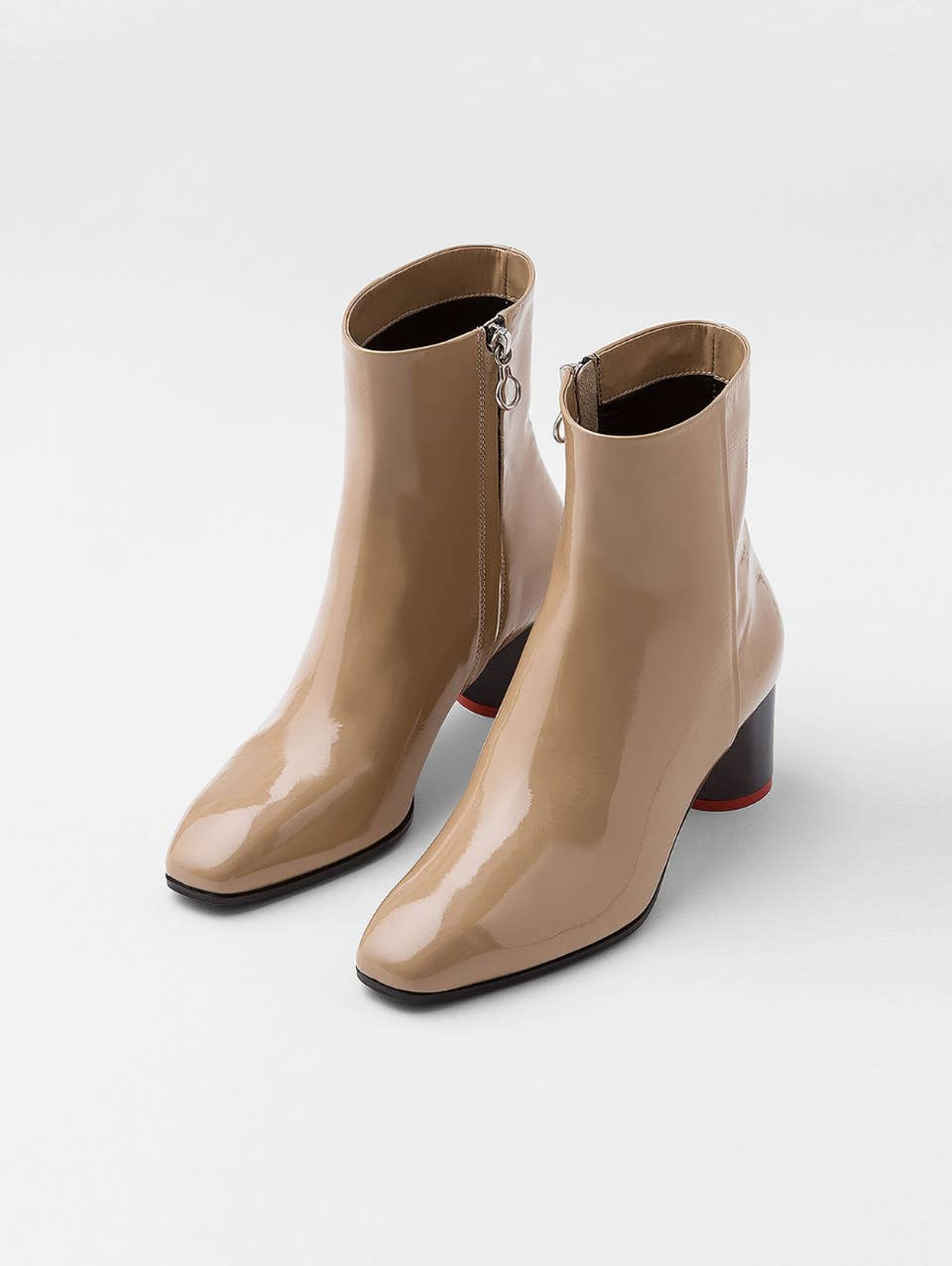 15 Stiefeletten mit Karree Schuhspitze